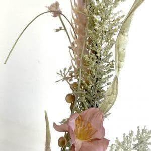 Couronne de fleurs artificiels en tissu