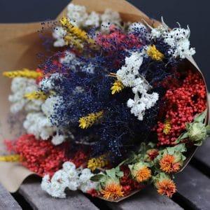 Addison Misty Bouquet de fleurs séchées