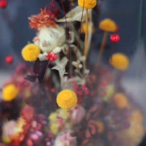 Cloche Fleurs Rouges H13