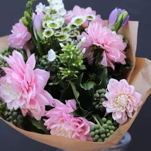 Bouquet de Dahlia Roses de Barbizon