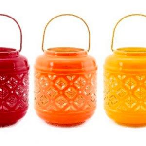 PHOTOPHORE KASBAH METAL (3 couleurs)