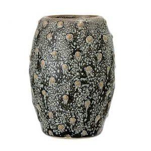 Vase à fleurs en grès vert