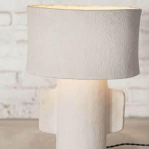 Lampe Earth papier mâché blanc H54cm