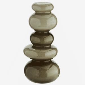 Vase galet en verre café