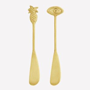 Couteaux à beurre laiton