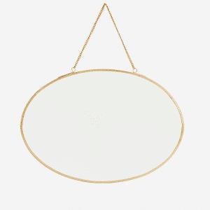 Miroir ovale suspendu
