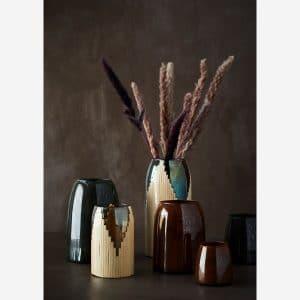 vase en verre teinté